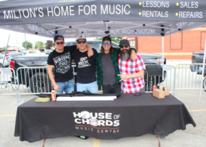 House of Chords Music Lesson facility & their booth at music event in Milton Ontario